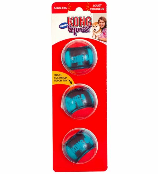 Kong Squeezz Action Ball Red Medium Dog Toy  Free Shipping $10.95
