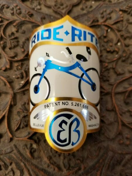 Ride Rite Bike Badge Bicycle Emblem acid etched brass $145.00