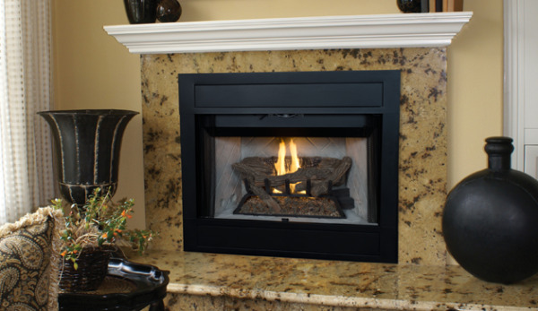 Superior BRT4336TMN-B Vent Gas Fireplace Traditional Open Front 36