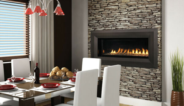 Superior Vent Free Linear Fireplace Clean Face 43