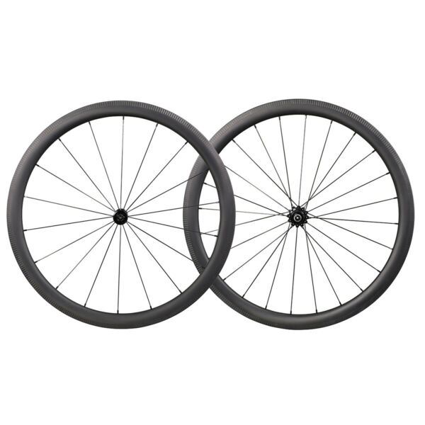ICAN AERO 40 Carbon Road Bike Wheelset 1314g Clincher Tubbelss Ready in the USA
