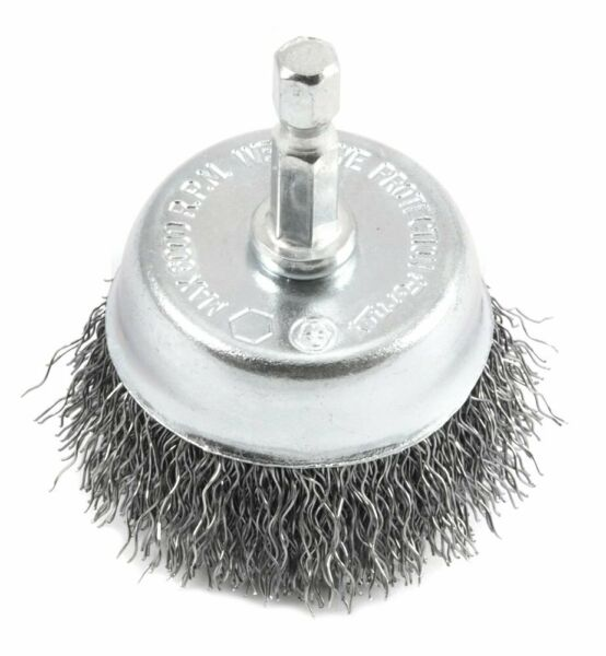 Wire Wheel Cup Brush Drill Attachment for Cast Iron Skillet Rust Removal Remover