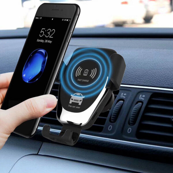 Qi Wireless Automatic Clamping Fast Car Charger Mount Holder-Samsung Note10 Plus
