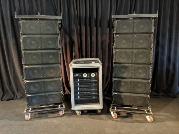 QSC Wideline 10 WL 2102 Array Speaker Package with Amplifiers and Accessories