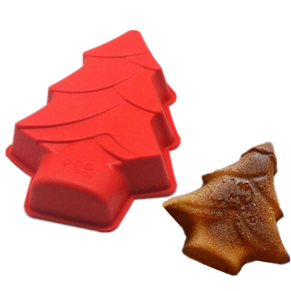 1Pc Christmas Tree Silicone DIY Xmas Cake Mold Chocolate Candy Mould Baking Tool