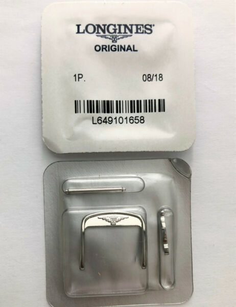 Original Longines 18mm Silver Clasp Buckle For Straps with 18mm at Buckle End $24.99