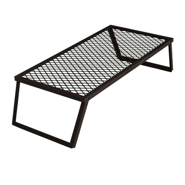Campfire Grill Grate Camping Portable Bbq Cooking Outdoor Folding Heavy Duty