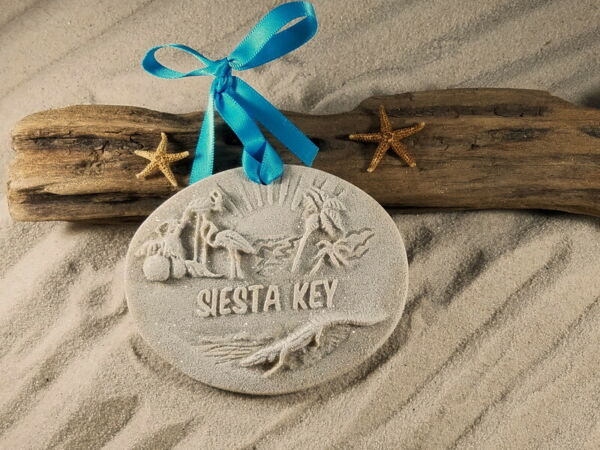 Siesta Key Memories Sand Ornament $15.95