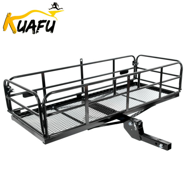 500 lbs Foldable Hitch Cargo Carrier Mounted Basket Luggage Rack w 2quot; Receiver $195.55