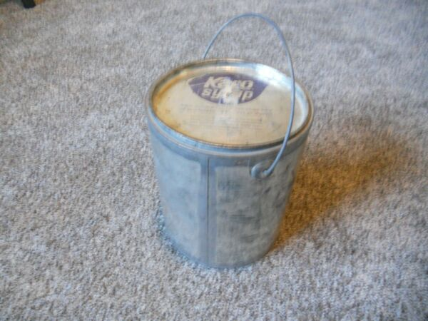 Vintage Metal Karo Syrup Can Pail Tin