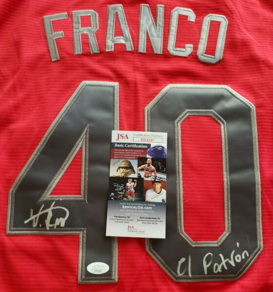 Wander Franco #1 Top Prospect (Rays) Signed Futures Stars Jersey In Person Wcoa