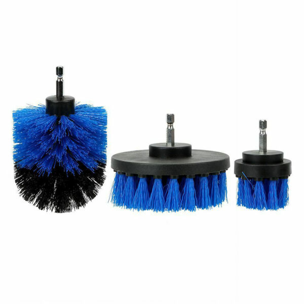 Car Wash Brush Hard Bristle Drill Auto Detailing Cleaning Tools 3pcsset