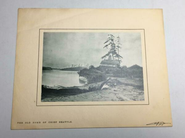 Vintage 1904 Edward Curtis ~Old Home Chief Seattle Lithograph Art Print Signed