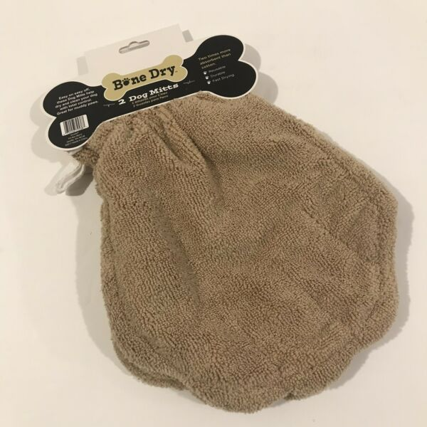 NEW Bone Dry 2 Microfiber Dog Mitts 8.75quot; x 11.5quot; $12.99