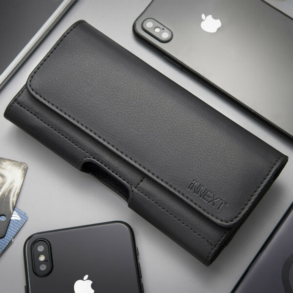 Horizontal PU Leather Case Pouch Holster Belt Clip Cover For iPhone 876 Plus