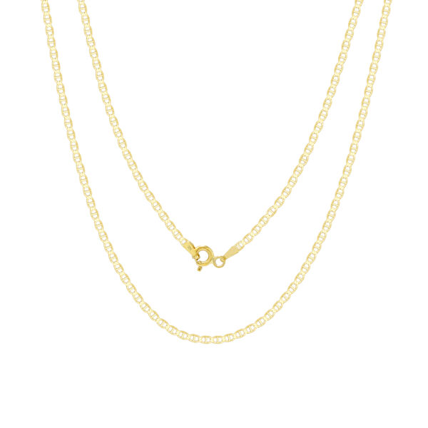 10K Yellow Gold Solid Womens 2mm Anchor Mariner Gucci Chain Pendant Necklace 16quot; $74.98