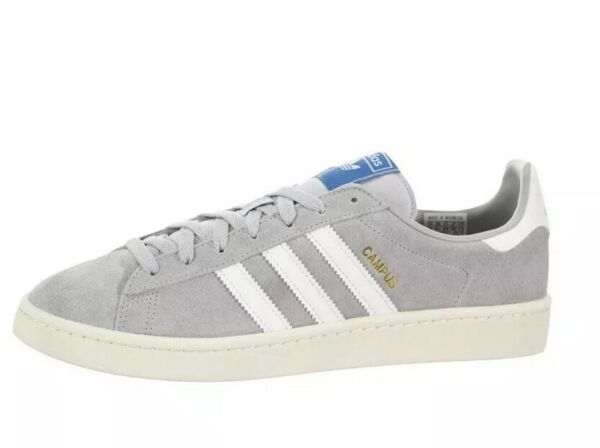 Adidas Campus B37846 Mens Suede Athletic Shoes Gray White Size 10 NWOB