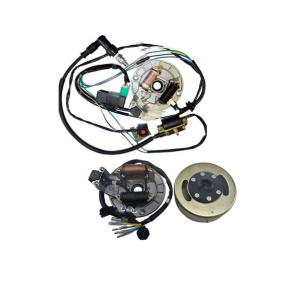 2 Coils MAGNETO Stator Plate Flywheel Wiring Harness Kit For CRF50 70 XR50 $94.49