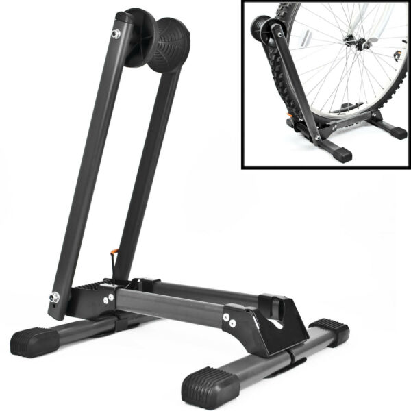 Folding BIKE STAND Portable Bicycle Floor Ground Parking Holder Storage Rack GBP 19.97