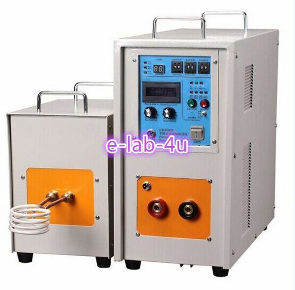 15KW 30-80KHz Dual Station High Frequency Induction Heater Furnace LH-15AB ex