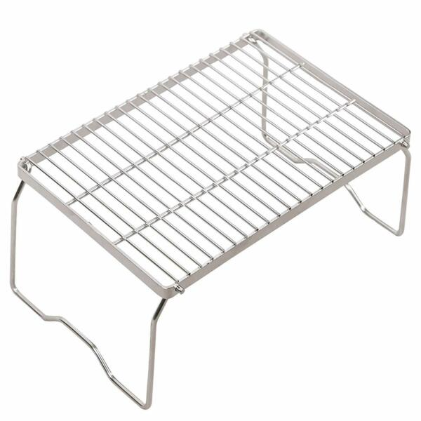 REDCAMP Camp Fire Grill Grate Cooking Outdoor BBQ Steel Camping Open Over Fire