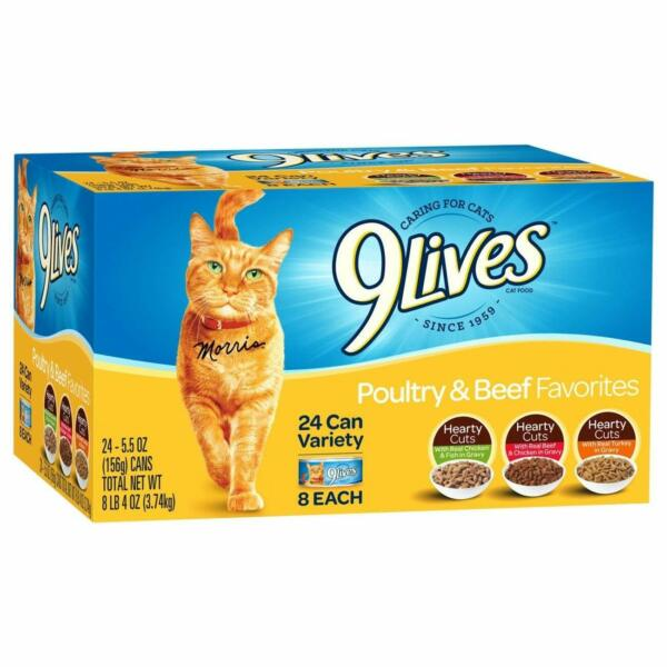 9Lives  Poultry & Beef Treats for Cat 5.5 Oz. Pack of 24