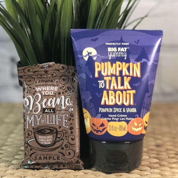 Perfectly Posh Hand Cream Pumpkin To Talk About Spooky Vanilla +Sample SOLD OUT