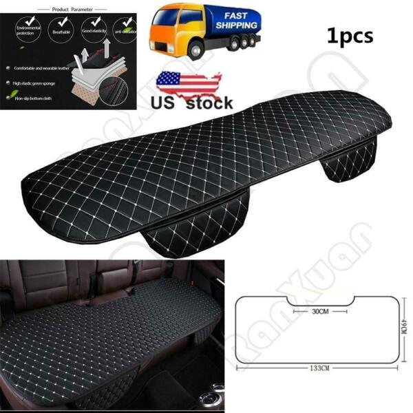 1pc Black&White Car Rear Seat Cover Cushions PU Leather For Interior Accessories