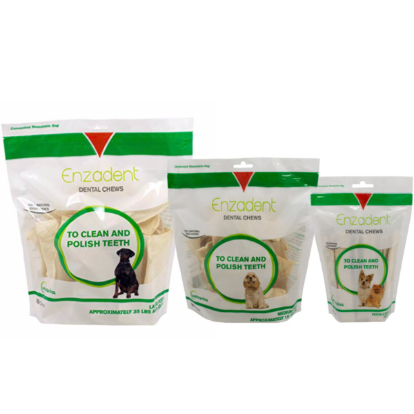 Enzadent Oral Care Chews for Dogs Choose From 3 sizes P S Med amp; Lg $24.99