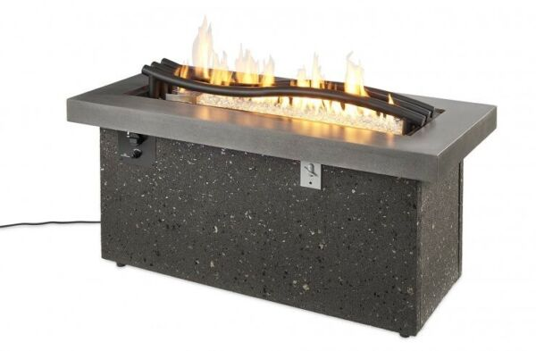 Outdoor Greatroom Boreal Complete Linear Propane Gas Fire Pit Table BCH-1242-LP