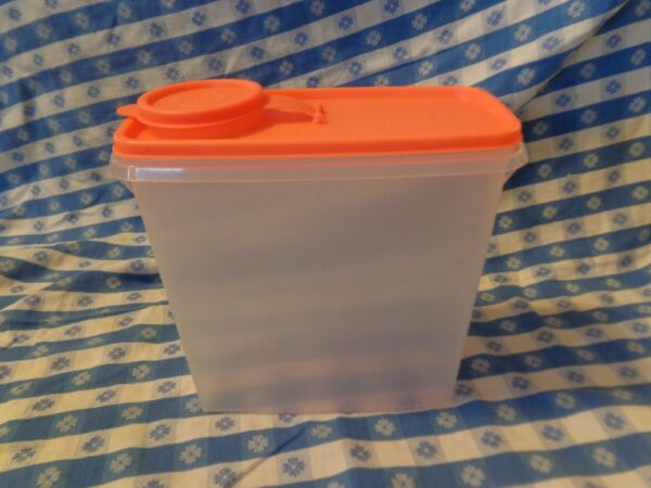 Tupperware Cereal Storer 13-cup NEW ELECTRIC Orange SEAL