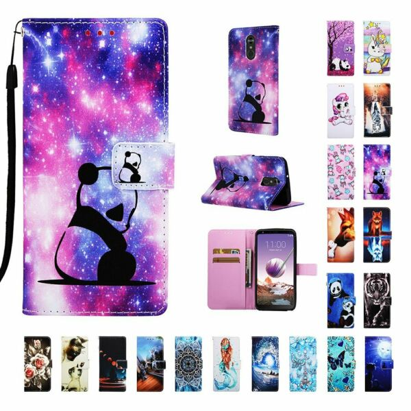 Cute Magnetic Leather Wallet Card Holder Flip Stand Case Cover For LG Phones $7.66