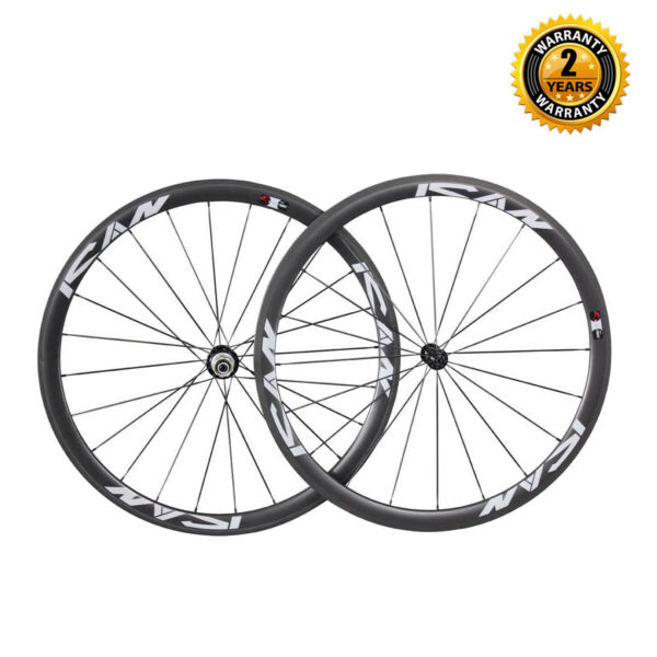 ICAN 38mm Carbon Clincher Road Bike Wheelset CN494 Spoke 11 Speed Shimano in USA