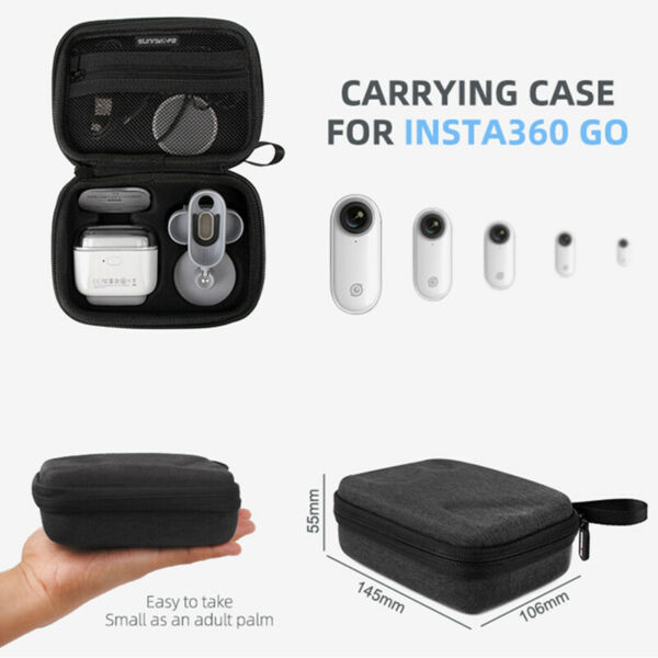 Practical Camera Carrying Case Protective Shockproof Storage Bag For Insta360 GO