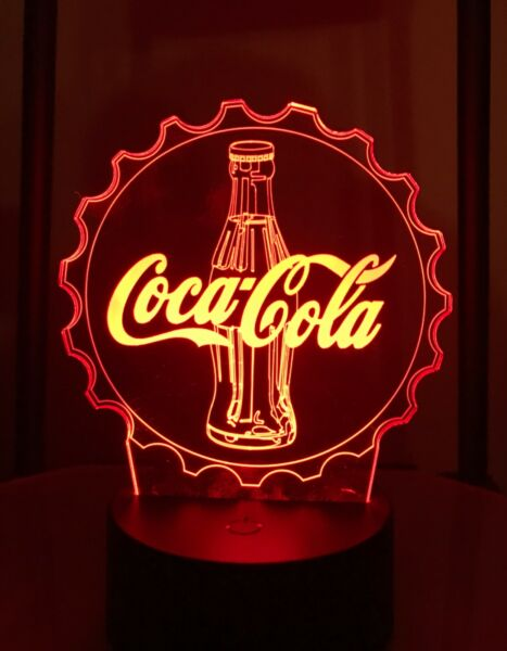 Coke logo light