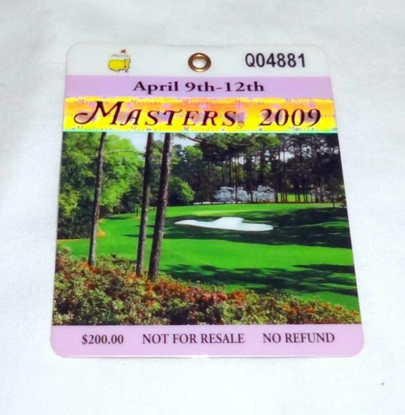 2009 Masters Badge - tournament won by Angel Cabrera