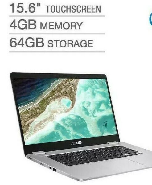 Open Box Asus 15.6quot; Full HD Touch 1080p Intel N4200 Quad Core 2.5GHz 4GB 64G