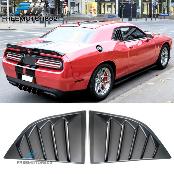 Fits 2008-2020 Dodge Challenger XE V2 Style PP Window Scoop Side Louver Cover