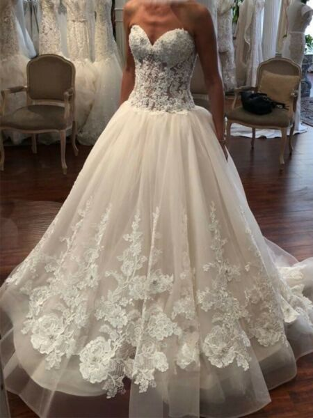 Eve of Milady Wedding dress IvoryBlushWhite With Vail