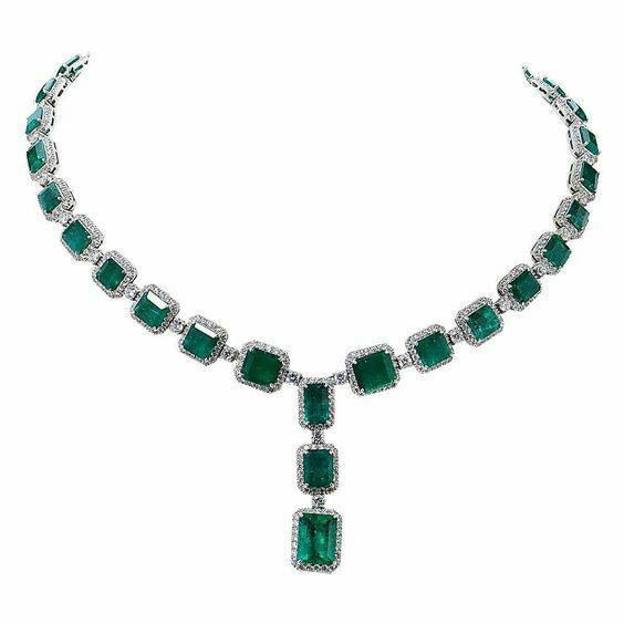 Simulated Green Emerald Halo Style 925 Sterling Silver Necklace Highend Women's