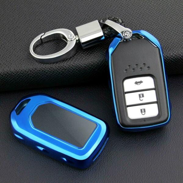 For 2014 19 Honda Accord Hybrid Blue Smart Car Key Chain Ring Cover Accessories $8.99