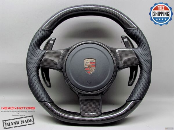 Porsche 911 997 991 958 Cayenne Panamera Perf Blk Small Carbon Steering Wheel V8