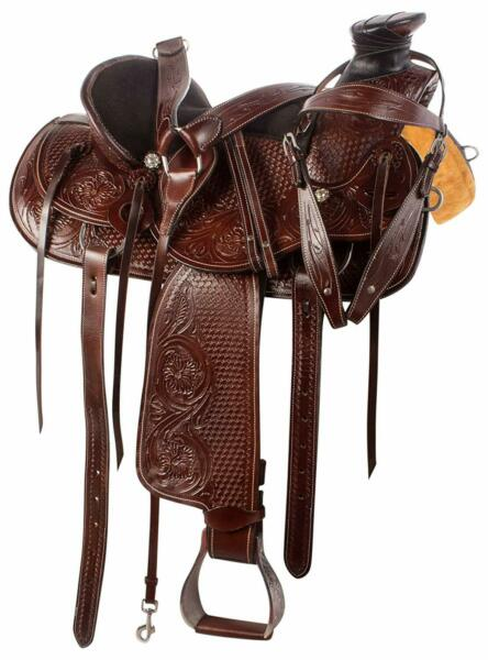 Premium Heavy Duty Wade Tree Roping Ranch Cowboy Western Leather Horse Saddle