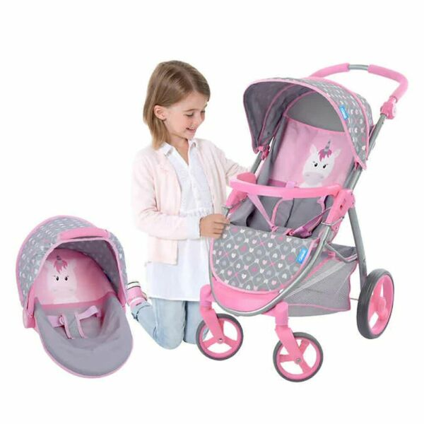 2 In 1 Doll Stroller and Carrier Travel System Toy Stroller $43.86