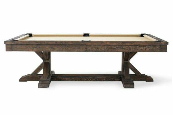 Thomas Pool Table Package 8' w Shuffleboard 12' Rustic Brown with FREE SHIPPING