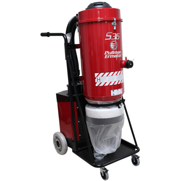 Ermator S36 Single Phase HEPA Silica Concrete Dust Collector - 200900057D