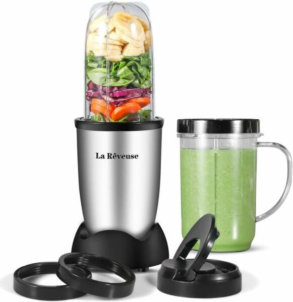 Personal Blender 250W for Shakes Smoothies Seasonings Sauces 16 oz Mug (Silver)