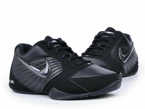 Nike Air Baseline Low Basketball Athletic Shoes Black White 386240-001 Men's NEW