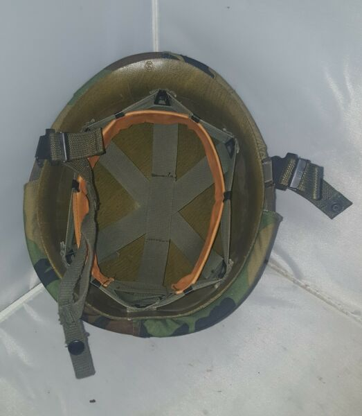 WOW Vintage United States Military Helmet Camo Cover amp; liner ALL ORIGINAL Look $77.95