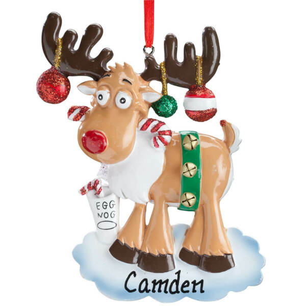 Moose Personalized Christmas Ornament